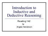 Introduction to Inductive and Deductive Reasoning