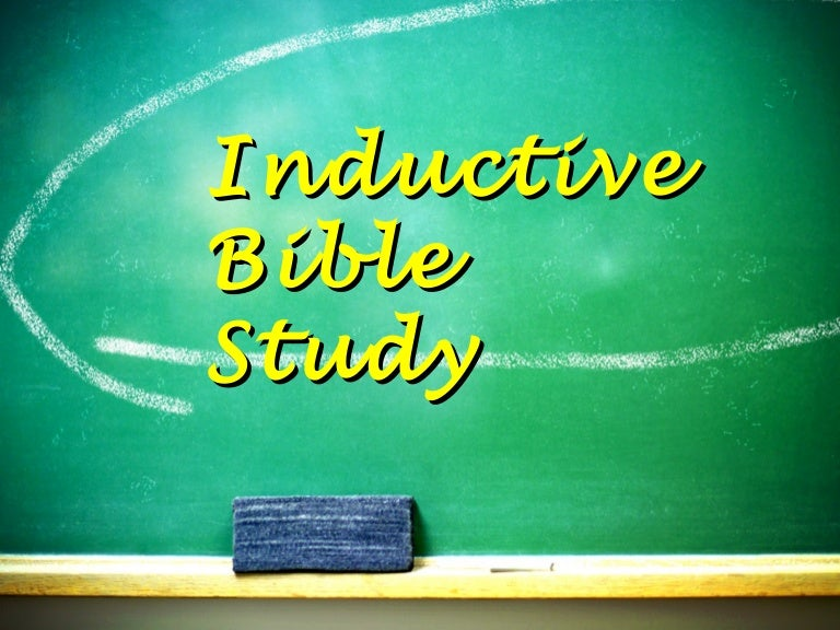 inductive bible study ppt