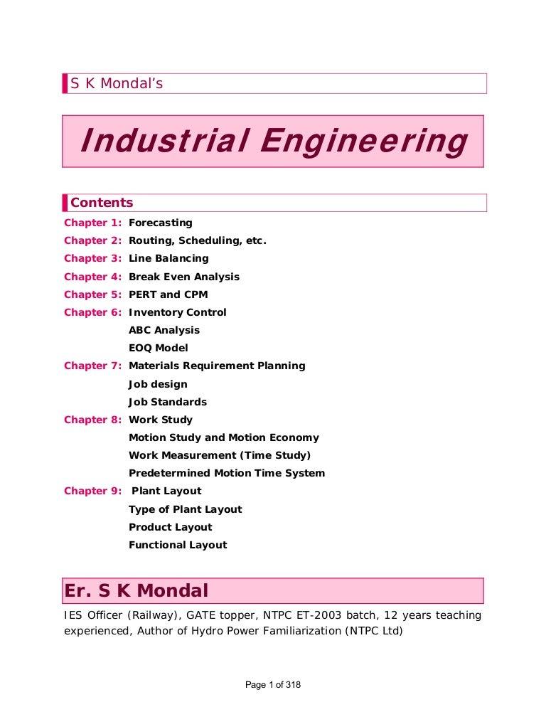 Industrial engineering sk-mondal