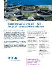 Industrial Wireless Products for Process Measurement and Control