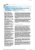 Industrial Biotechnologies China News Highlight November 2010