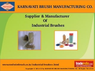 Brass Wheel Brushes Manufacturer,Supplier,Gujarat
