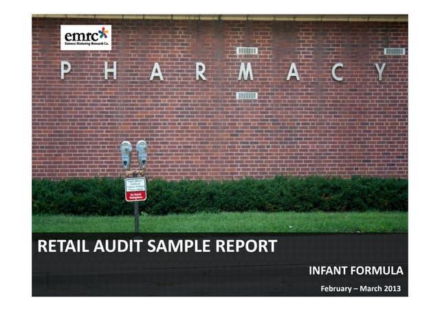 Emrooz Marketing Research Co. (EMRC) -Retail Audit - Infant formula Sample Report