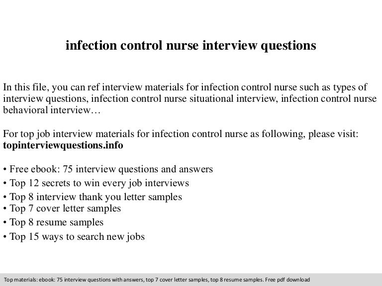 infection control nurse interview questions