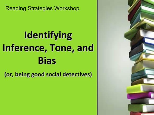 Inference tone bias