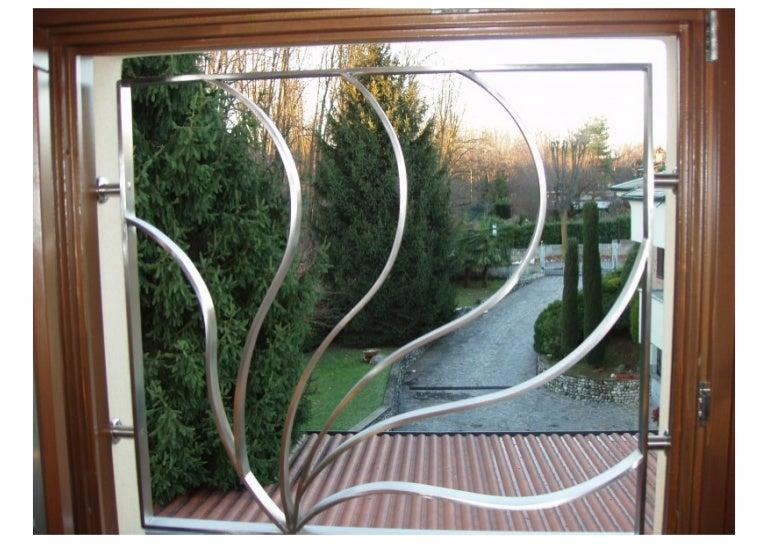 Inferriate grate di sicurezza apribili con snodo in ferro - Protezioni in ferro per finestre ...