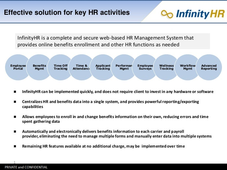 InfinityHR Overview and Case Studies