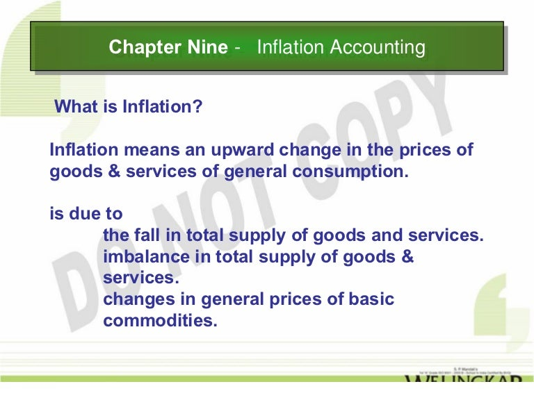 importance of inflation accounting