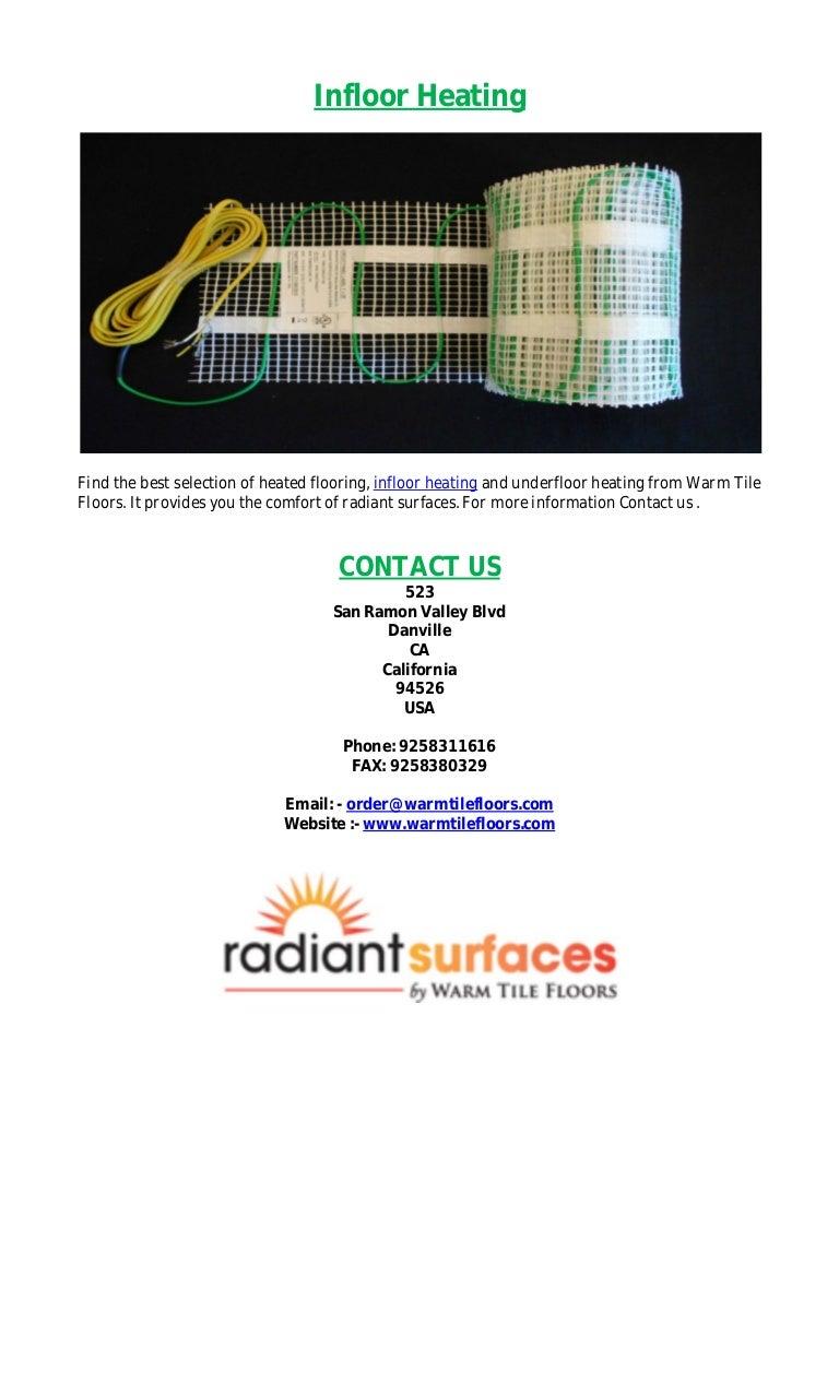 Infloor Heating Radiant Surfaces By Warm Tile Floors