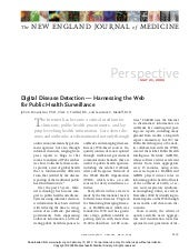 Digital Disease Detection — Harnessing the Web for Public Health Surveillance