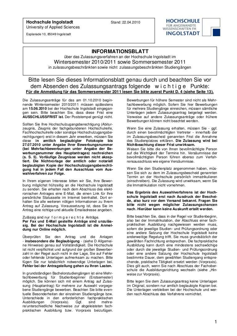 infoblatt zulassungsverfahren ws 2010 2011_ss 2011_28102010 - Begrundung Zweitstudium Muster