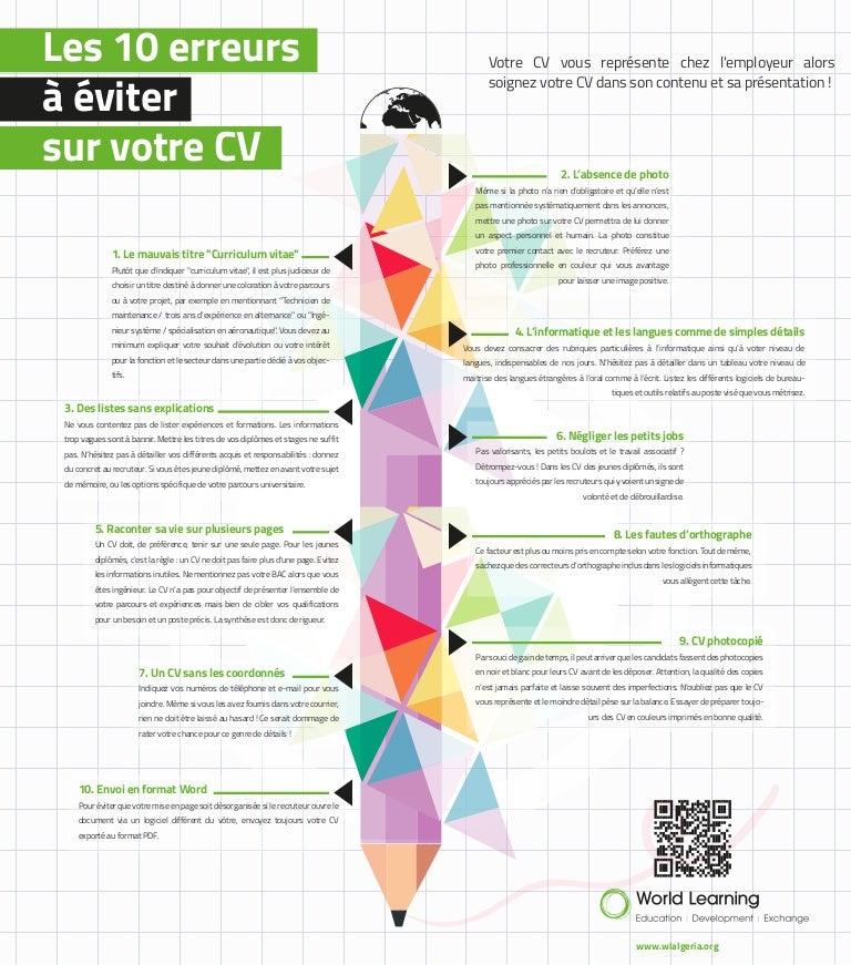 World Learning Algeria Les 10 Erreurs à éviter Sur Votre Cv