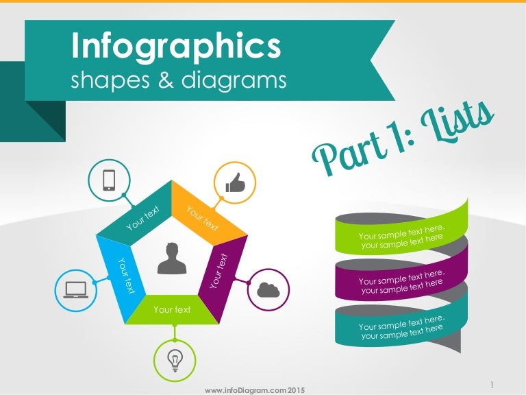 infographics text lists powerpoint diagrams