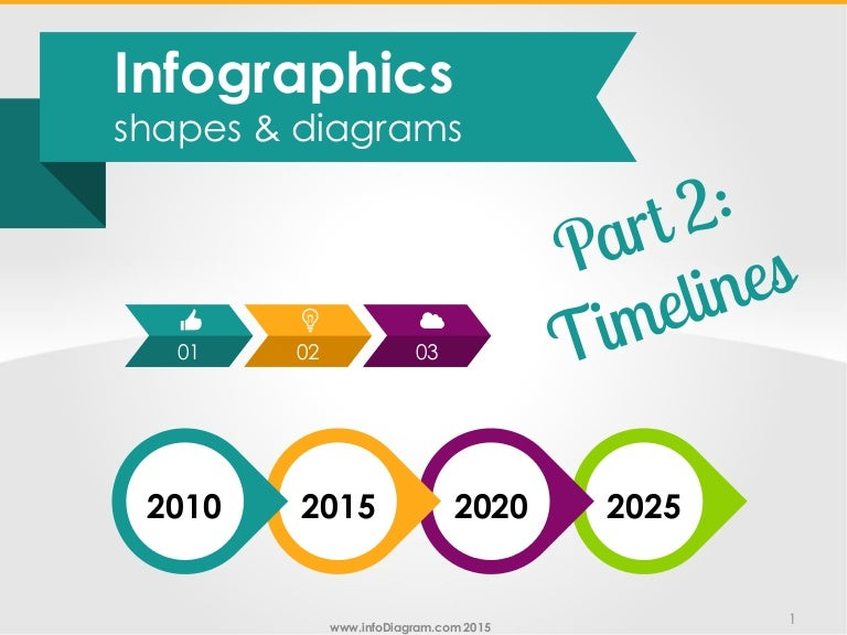 Infographics Shapes Timelines Ppt Flow Diagrams
