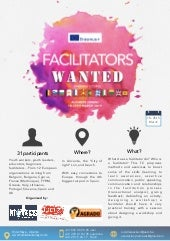 Infopack facilitators wanted