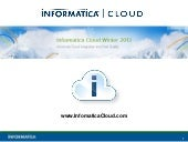 Informatica Cloud Winter 2013 - Data Integration and Data Quality