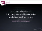 Information architecture for websites and intranets