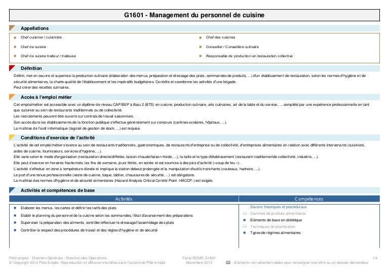 Information Metier Hotellerie Restauration Management Du Personnel De