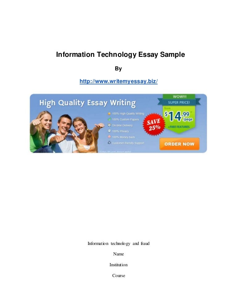 information technology essay sample