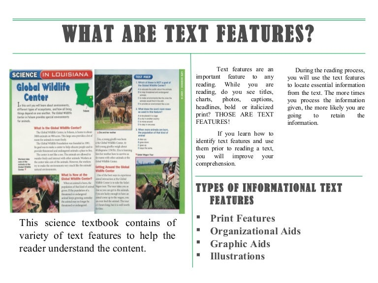 Collection of Informational Text Features Worksheets Sharebrowse – Text Features Worksheets