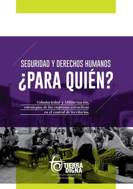Informe SEGURIDAD Y DERECHOS HUMANOS ¿PARA QUIÉN?