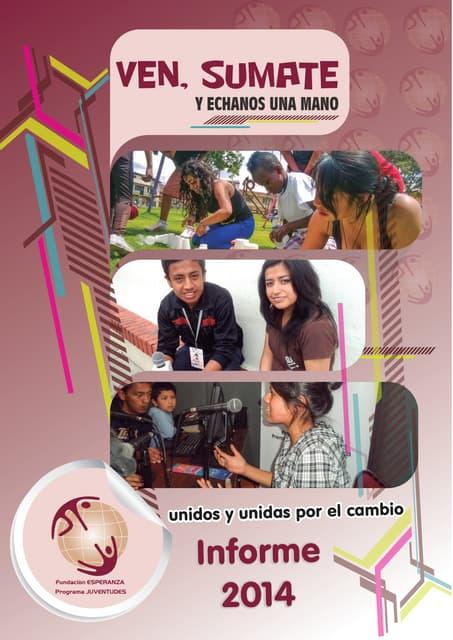 Informe - Programa JUVENTUDES 2014