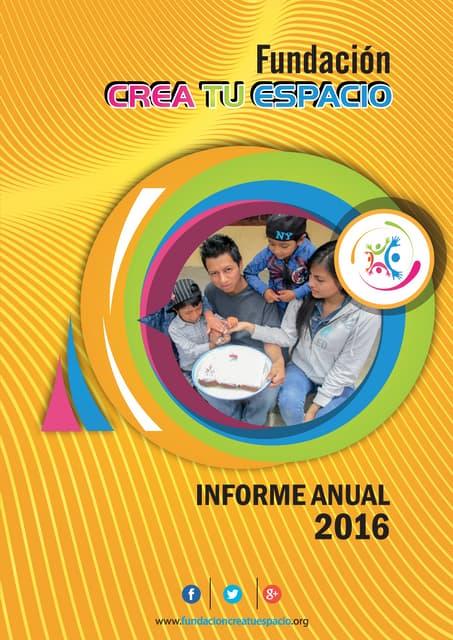 Informe 2016 FCTE
