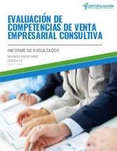 Informe de Evaluación de Competencias del Vendedor Consultivo