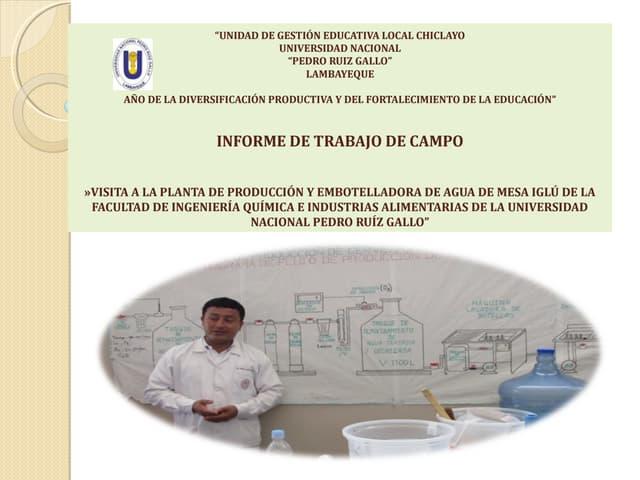 Informe: Planta de Procesamiento de agua de mesa