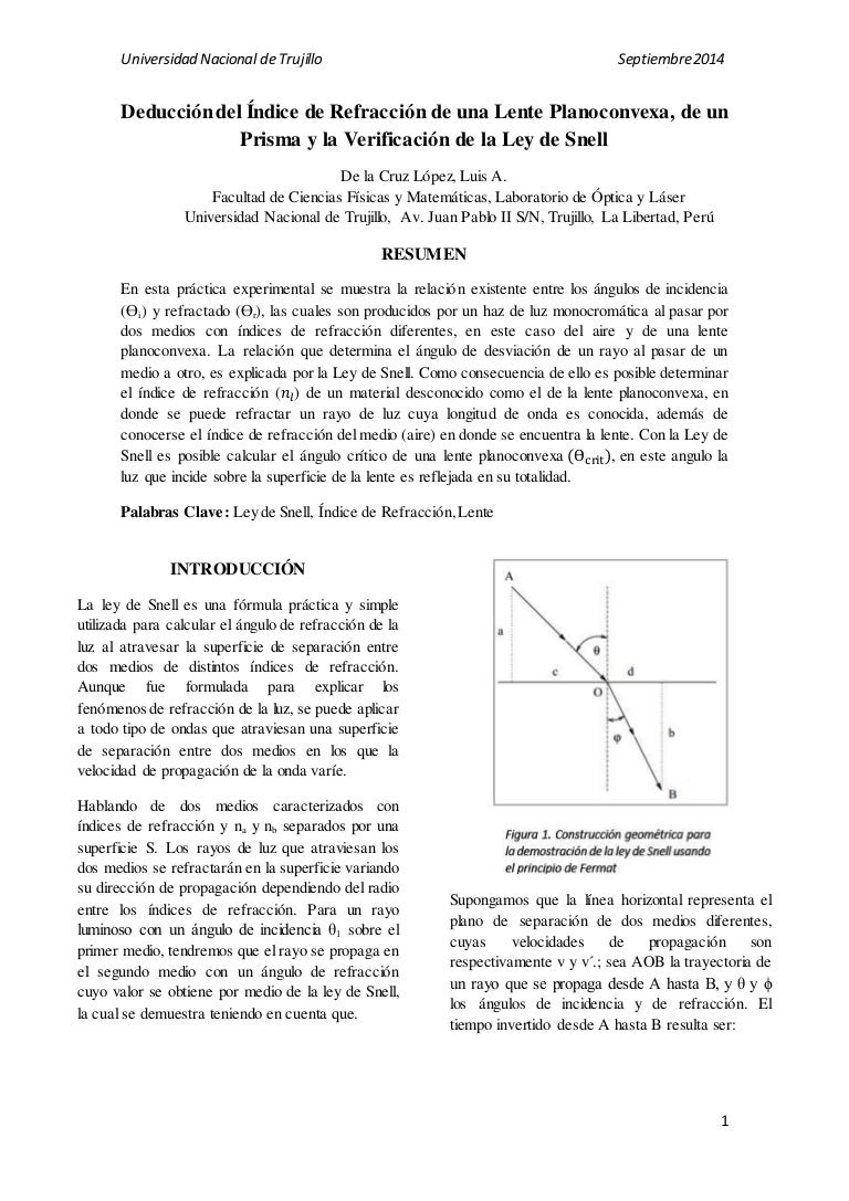4a16b60d68 practica de laboratorio : Ley de snell