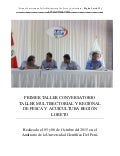 Informe Final Conversatorio Taller Multisectorial de Pesca y Acuicultura. Región Loreto 2015.
