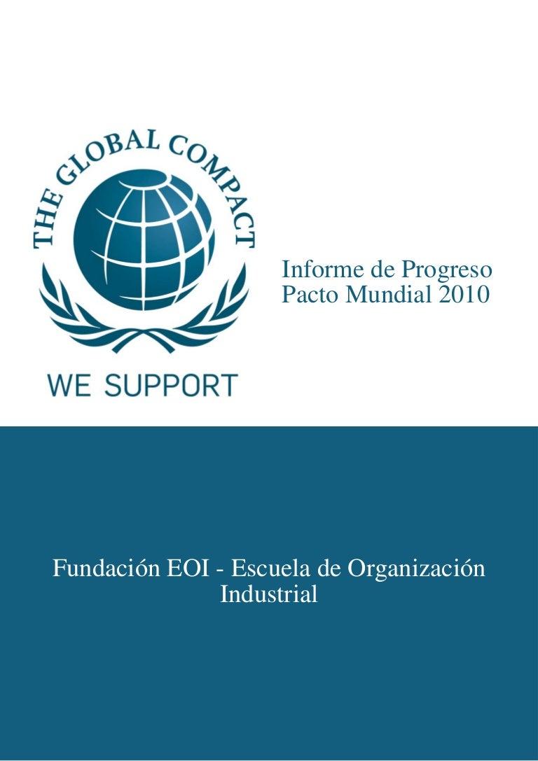 EOI · Informe de Progreso Pacto Mundial 2010