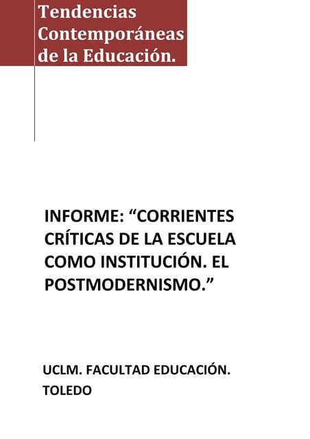Informe postmodernismo