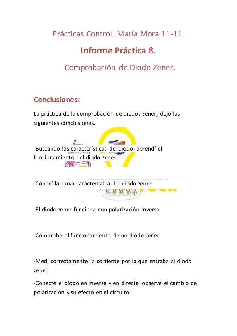 Circuito Zener : Informe práctica 8