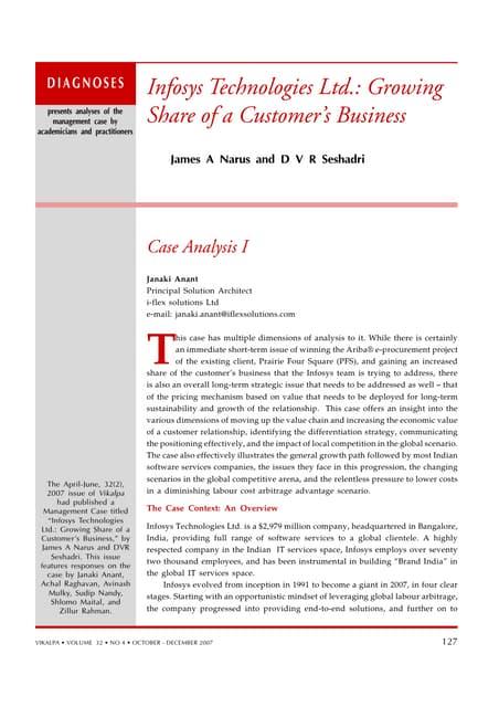 infosys case study harvard