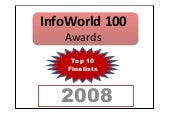 Infoworld 100 awards Top 10 Finalists