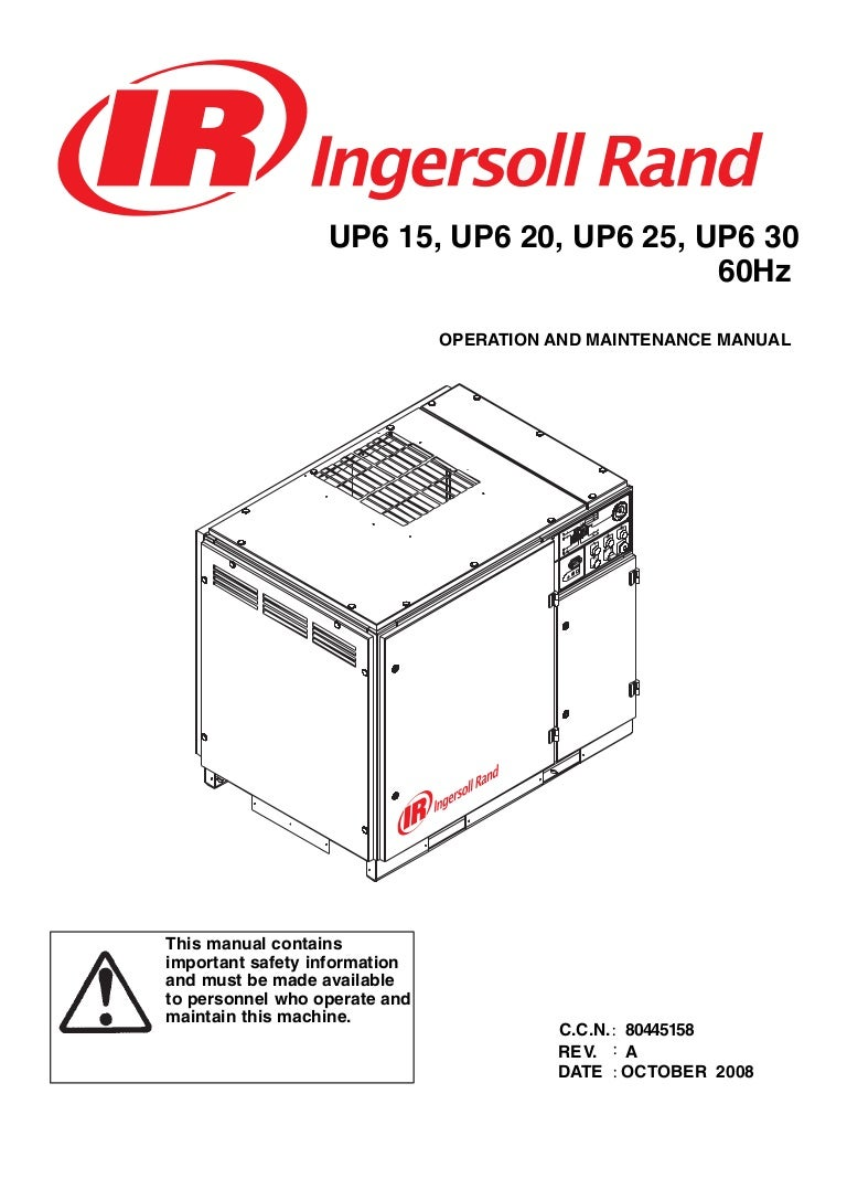 ingersoll rand 15 to 30 hp rotary screw air compressor manual jec