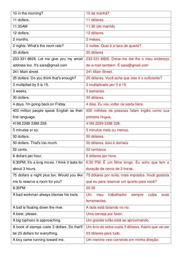 12000 Frases Em Inglês Por Ordem Alfabética