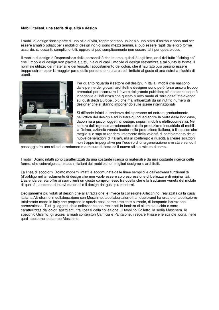 Design e mobili italiani