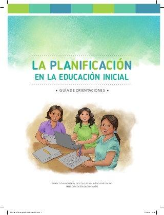 LA PLANIFICACIÓN EN LA EDUCACIÓN INICIAL - 2019