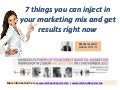 7 things you can inject to your marketing right now - Power Up Direct & Digital Marketing Workshop in Lisbon