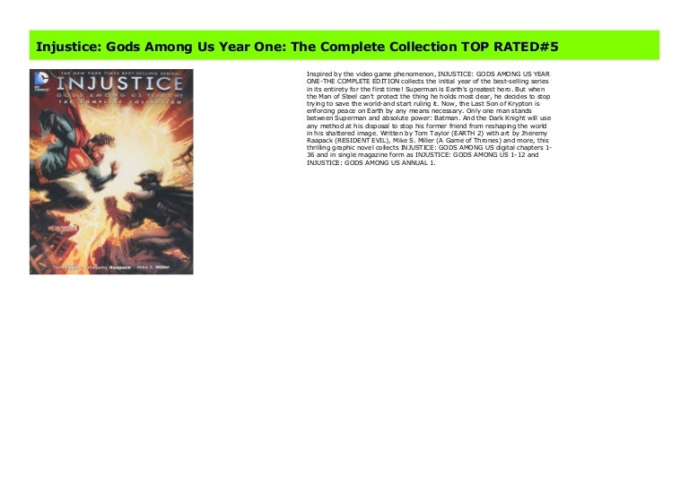 Injustice Gods Among Us Year One The Complete Collection Top Rated 5