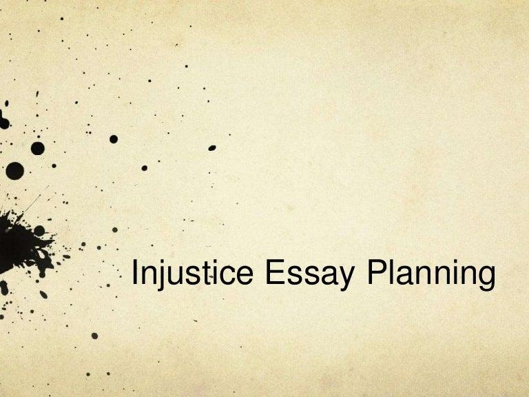 injustice essay examples
