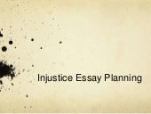 write the wrong essay social injustice