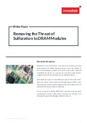 [White Paper] Removing the Threat of Sulfuration to DRAM Modules