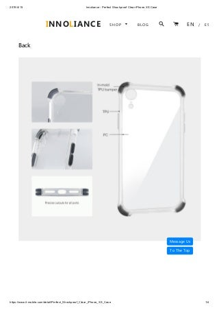Innoliance perfect shockproof clear i phone xs case