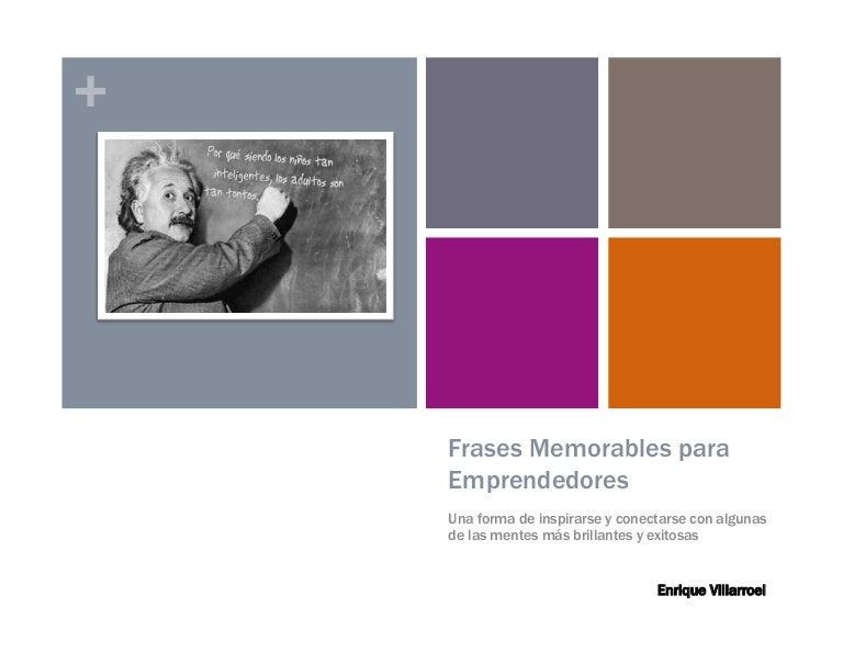 Innovacion Y Emprendimiento 32 Frases Memorables Para Emprendedores