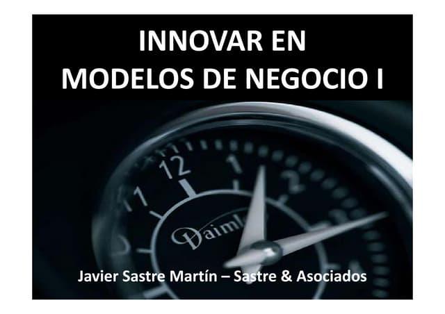 Innovar en modelos de negocio 1