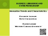 Innovation and business librarians