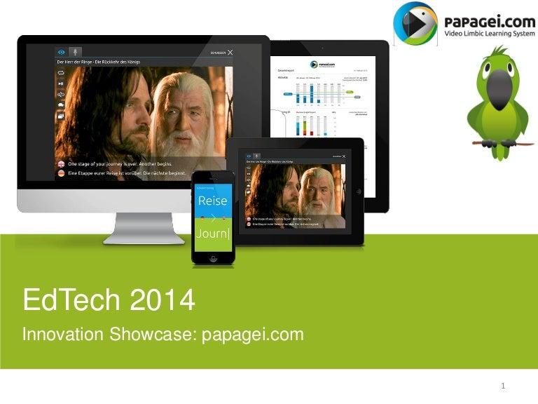 EdTech Europe 2014 Innovation Showcase: Papagei